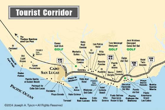 San Lucas/Los Cabos, Baja Mexico Maps: