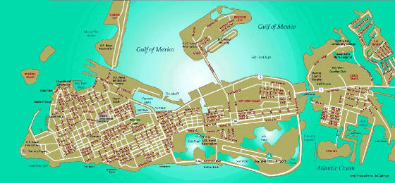 Florida Travel Guide Map.Travel Guides Of Key West Florida
